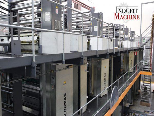 Assemblage électrique et mécanique de la machine d'impression rotative